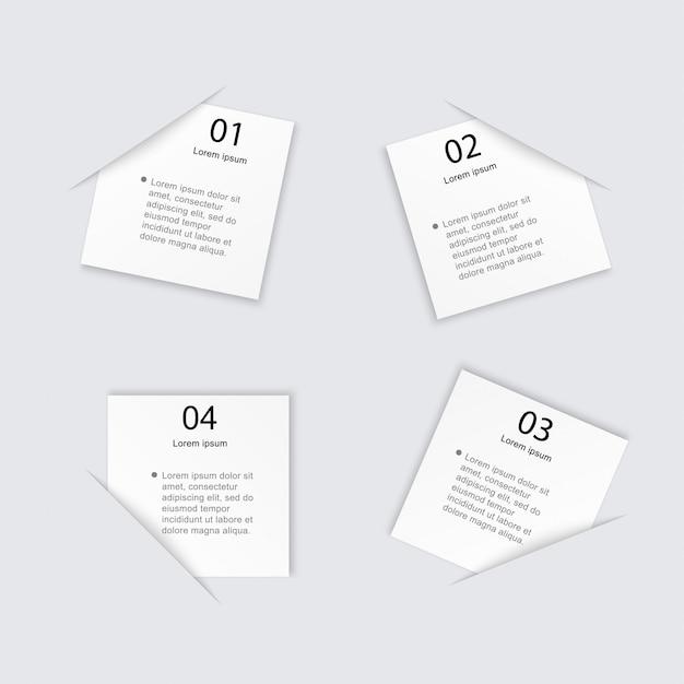 Graphiques D'informations Colorés Pour Vos Présentations Commerciales. Vecteur Premium