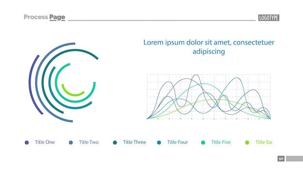 Graphiques De Lignes Et Modèle De Diapositives Vecteur gratuit