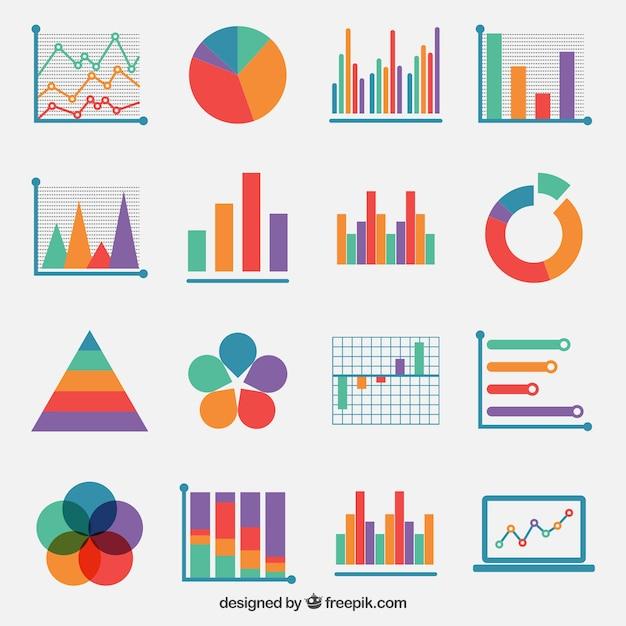 Des graphismes colorés Vecteur Premium