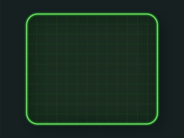Green tech hud grid Vecteur Premium
