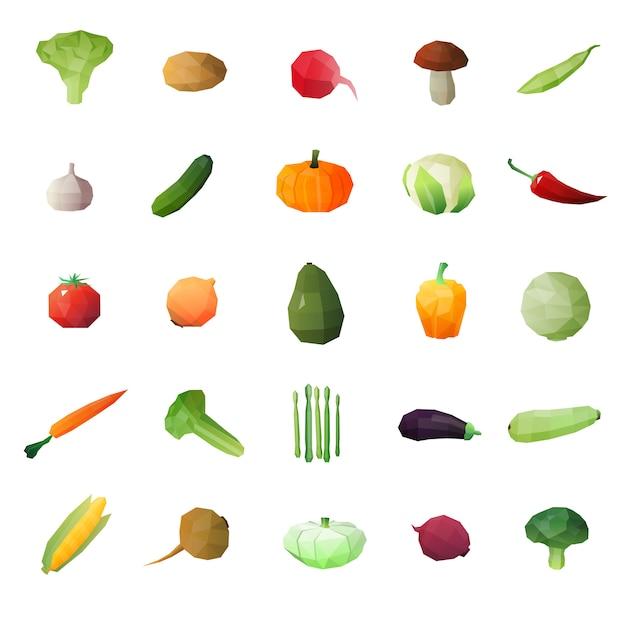 Greengrocery ripe fruits set Vecteur gratuit