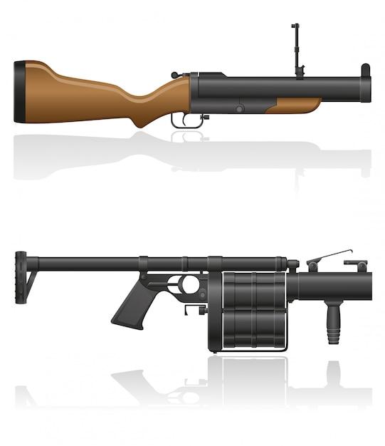 Grenade-gun. Vecteur Premium