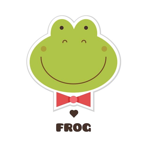 La grenouille. illustration vectorielle Vecteur Premium