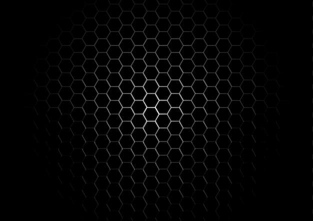 Fondo De Pantalla Abstracto Barras De Colores: Grille Hexagonale En Métal Sur Fond Noir