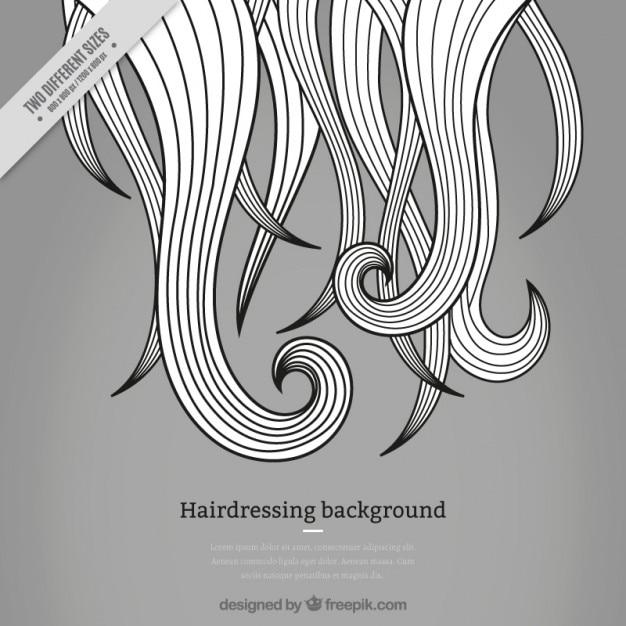 Gris salon de coiffure fond Vecteur gratuit