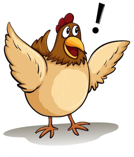 Une grosse poule Vecteur gratuit