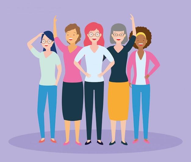 Groupe De Femmes Vecteur gratuit