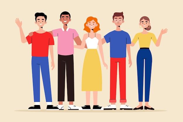 Groupe D'illustration De Personnes Collection Vecteur gratuit