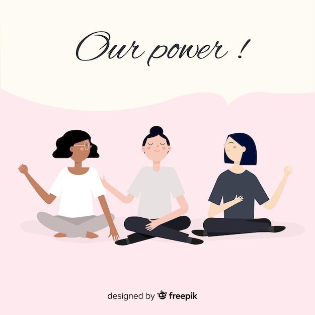 Groupe interracial de femmes Vecteur gratuit