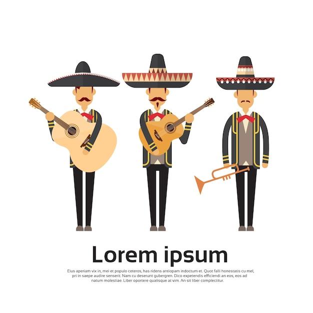 Groupe mexicain Vecteur Premium