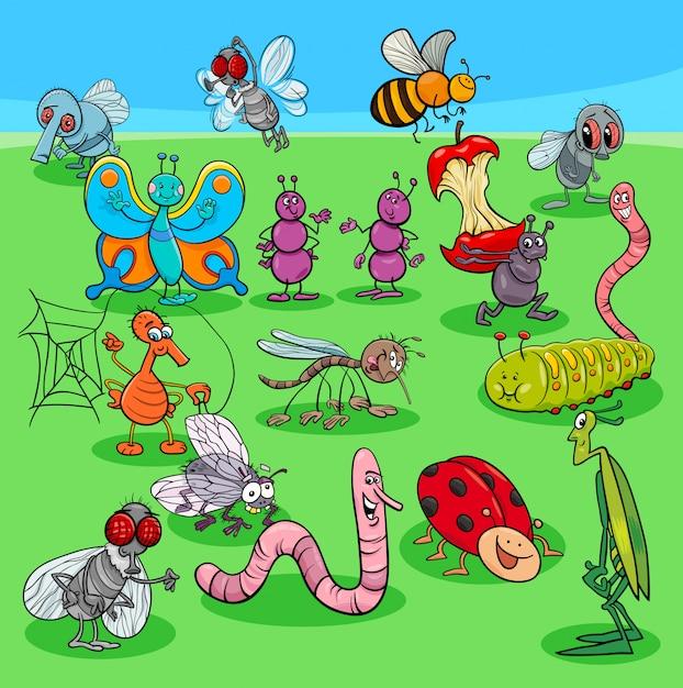 Groupe de personnages de dessins animés Vecteur Premium