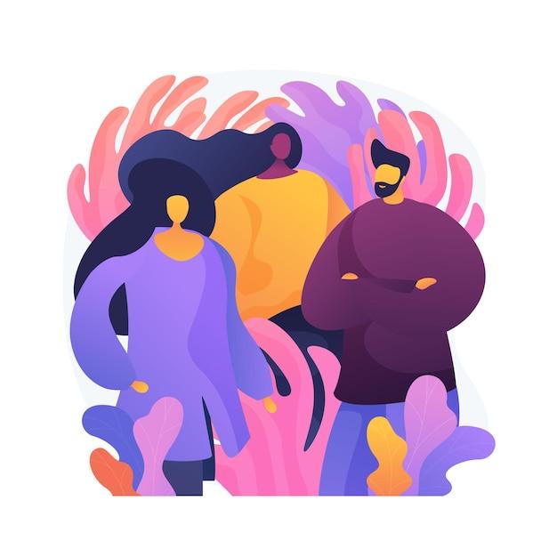 Groupe De Personnes Diverses. Entrepreneurs Professionnels, équipe Commerciale Créative, Amis Adultes. Jeune Homme Et Femmes Confiants, Collègues Debout Ensemble. Vecteur gratuit