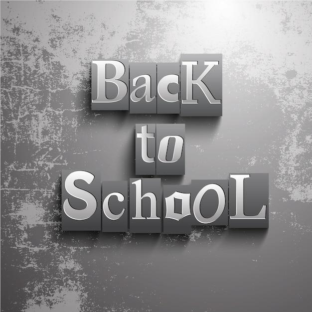 Grunge, Retour à L'école, Fond Vecteur gratuit