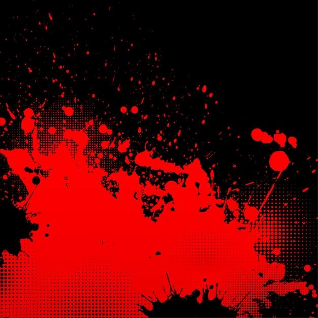 Grunge splatter background Vecteur gratuit