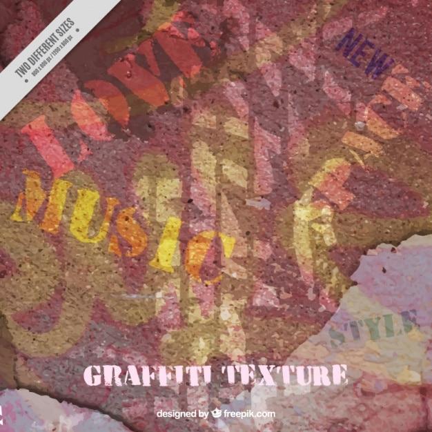 Grunge Texture D'un Mur Peint Avec Des Graffitis Vecteur gratuit