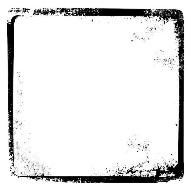 Grungy Cassé Page Cadre Vintage Rétro Thème Vector Art Vecteur Premium