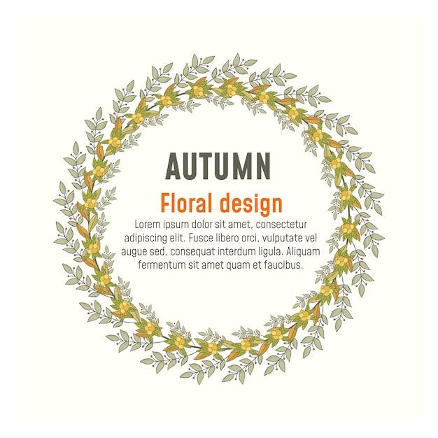 Guirlande d'automne et cadres. feuilles d'automne. Vecteur Premium