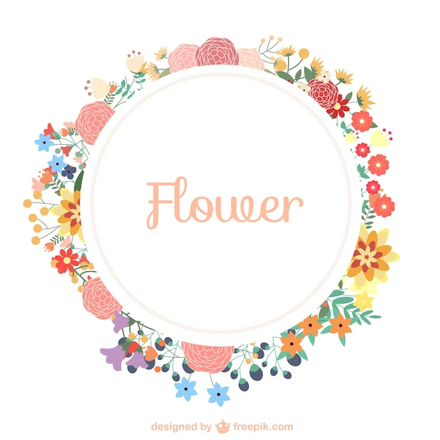 Guirlande de fleurs modèle libre téléchargement Vecteur gratuit