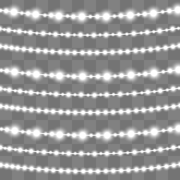 Guirlande Lumineuse De Noël Avec Des Lumières. Lampe Néon à Led. Vecteur Premium