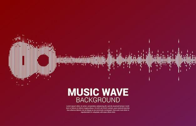 Guitar Sound Wave Music Equalizer Pour Concert événementiel Et Festival De Musique Vecteur Premium