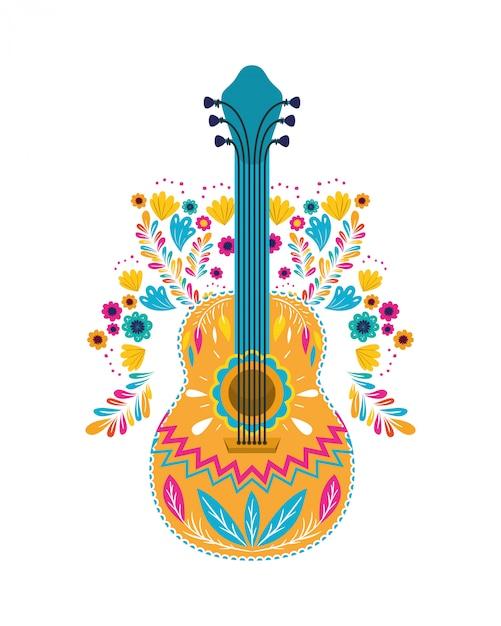 Guitare mexicaine Vecteur Premium