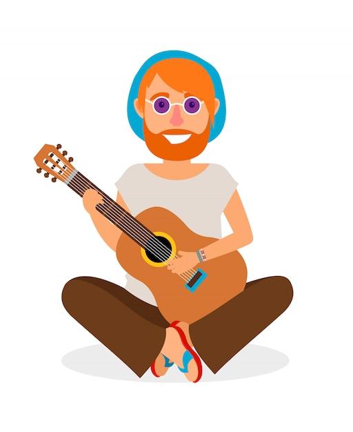 Guitariste Vecteur Premium