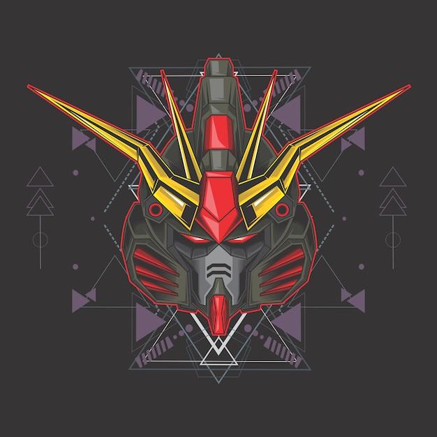 Gundam Noir Vecteur Premium