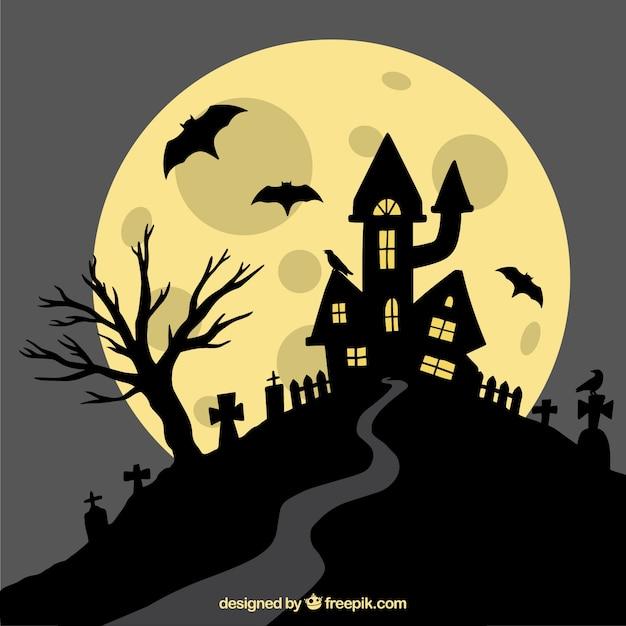 Halloween bacground avec style classique Vecteur gratuit