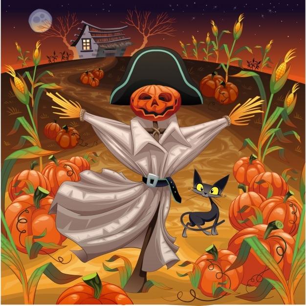 Halloween Conception D'arrière-plan Vecteur gratuit