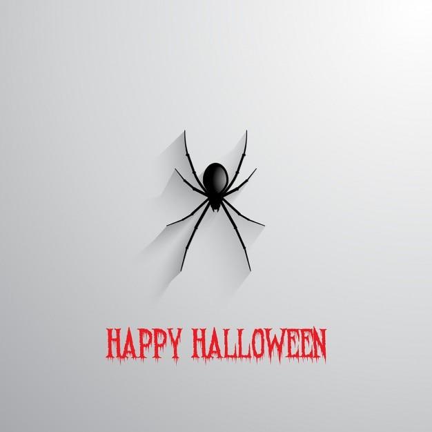 Halloween Fond Avec Araignée Suspendue Vecteur gratuit