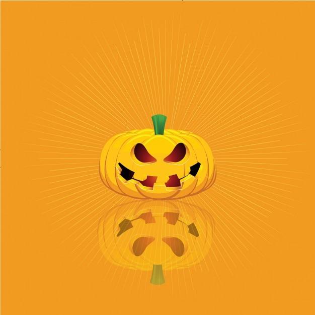 Halloween fond avec une citrouille effrayante t l charger des vecteurs gratuitement - Citrouille effrayante ...