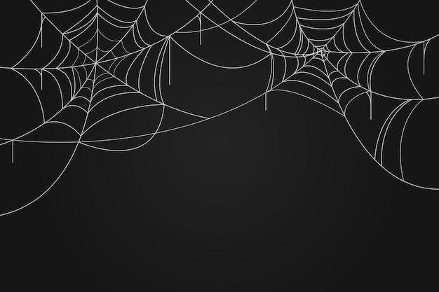 Halloween Fond D'écran De Toile D'araignée Vecteur gratuit