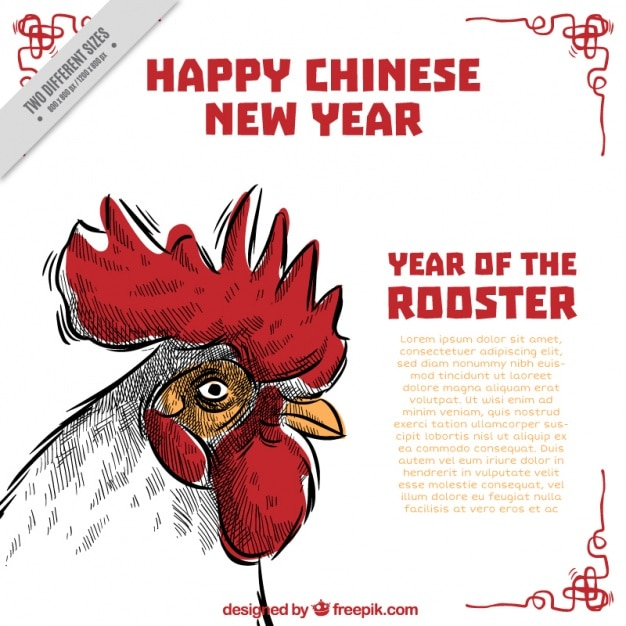 Hand-drawn chinese new year background Vecteur gratuit