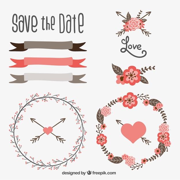 ... drawn décoration de mariage  Télécharger des Vecteurs gratuitement