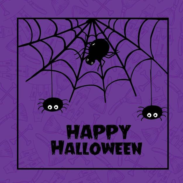 Hand drawn halloween de fond Vecteur Premium