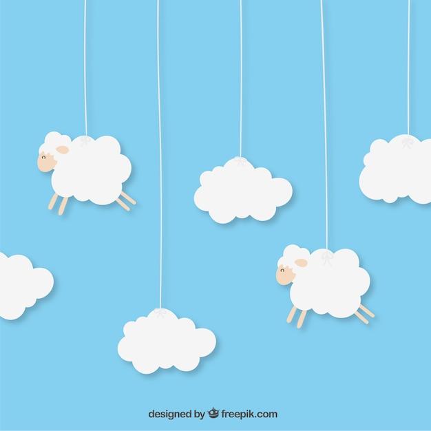 Hanging moutons Vecteur gratuit