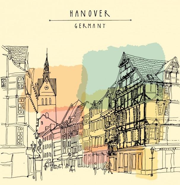 Hannover Conception De Fond Vecteur gratuit