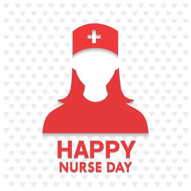 Happy day infirmière Vecteur gratuit