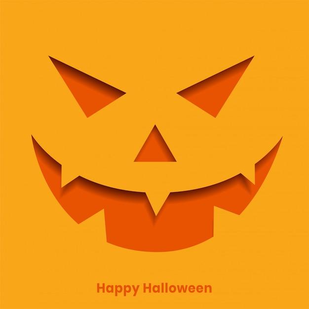 Happy halloween avec la citrouille maléfique Vecteur gratuit