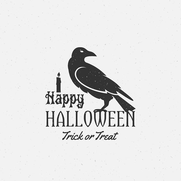Happy Halloween étiquette, Emblème Ou Modèle De Carte. Vecteur gratuit