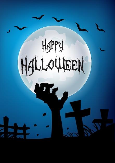 Happy halloween part de la tombe Vecteur Premium