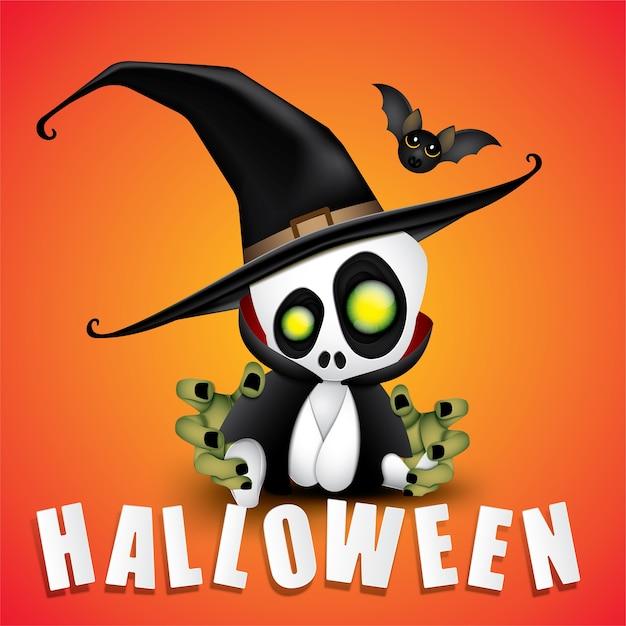 Happy halloween party bébé dracula. Vecteur Premium