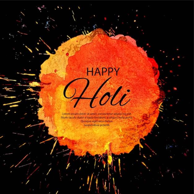 Happy holi fond de festival de printemps indien Vecteur Premium