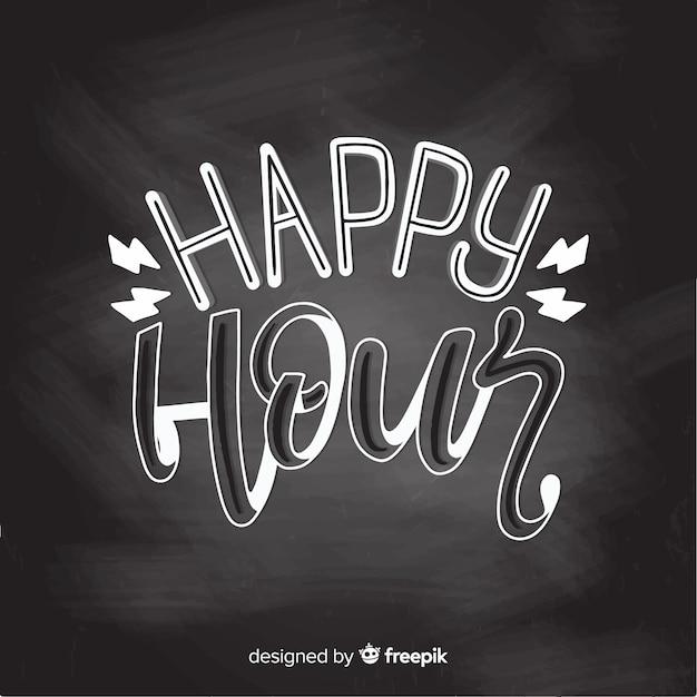 Happy hour lettrage d'événement Vecteur gratuit