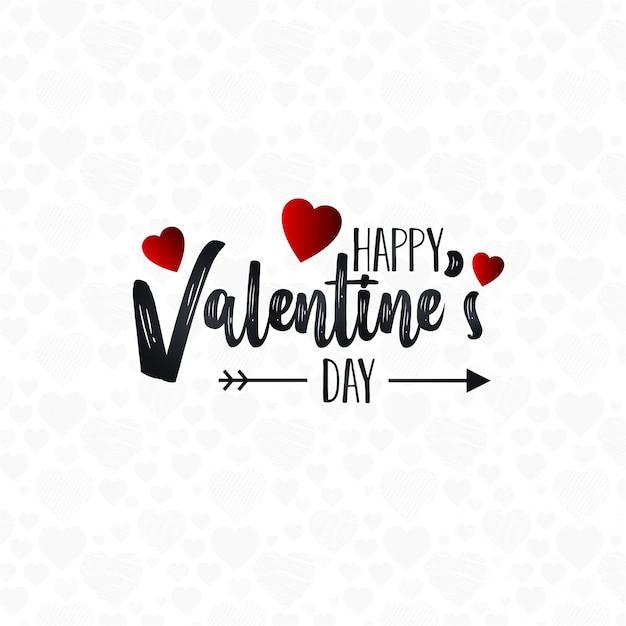 Happy valentine's day lettrage de fond Vecteur gratuit