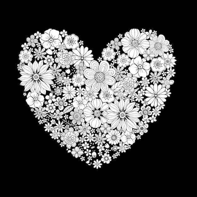 Happy valentines day avec un coeur design vector Vecteur Premium