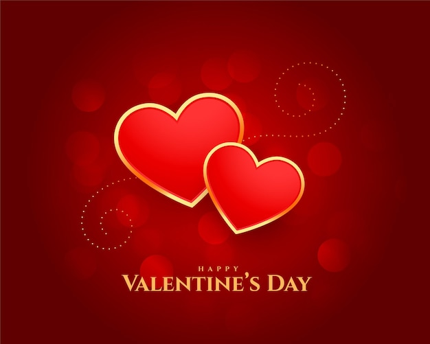 Happy Valentines Day Coeurs Belle Conception De Cartes Vecteur gratuit