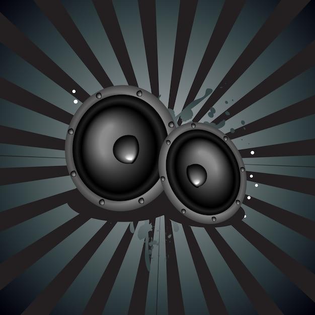 Haut-parleur de musique vectorielle backgound Vecteur gratuit