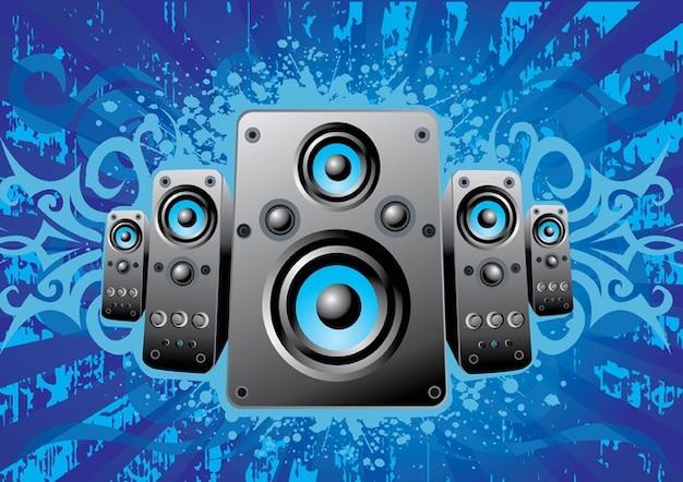 haut-parleurs de musique Vecteur gratuit