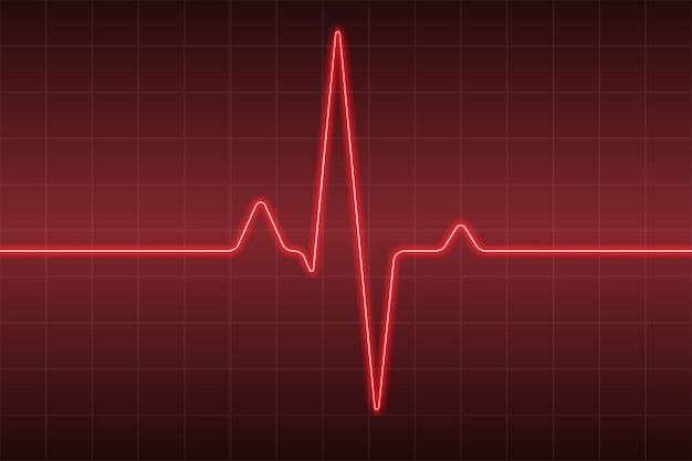 Healthcare medical avec pouls cardiaque ecg Vecteur Premium